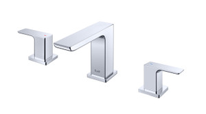 Trueform Concrete - Fluid Quad Dual Handle Lavatory Tap