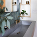 """60"""" ADA Floating Concrete Rectangle Sink (FLO-60N-ADA) shown in the color """"Graphite""""."""