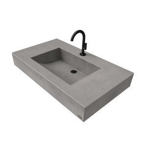 "36"" ADA Floating Half-Trough Concrete Sink FLO-36C-ADA Concrete color shown in Graphite"