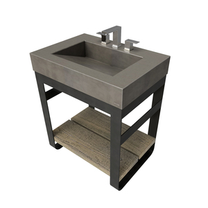 "30"" Outland Vanity With Concrete Ramp Sink OUTLAND-30V Concrete color shown in Dusk"