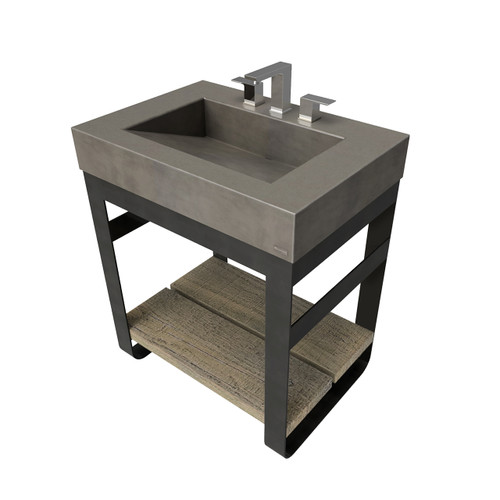 """30"""" Outland Vanity With Concrete Ramp Sink OUTLAND-30V Concrete color shown in Dusk"""