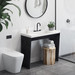 """Trueform Contempo Concrete Bathroom Vanity Sink is a custom modern sink with contemporary features for the bathroom, or powder room. Wharton, New Jersey. Concrete shown in the color """"White Linen"""""""