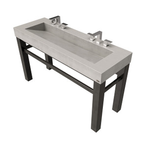 "60"" Industrial Vanity With Concrete Ramp Sink SKU: IND-60V Concrete Color Shown in: ""Concrete"" Steel Base Finish Shown in: ""Painted Black"""