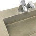 "The 128"" ZEN Commercial Washstand with 110"" Concrete Ramp Sink; designed for 4 wash stations. Shown in color ""Pewter""."