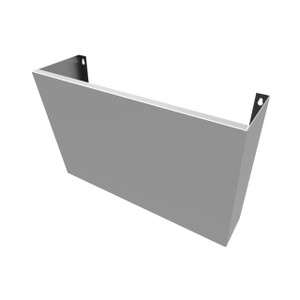 """Trueform Stainless Sink Shroud,  27"""" for wall-hung sinks."""