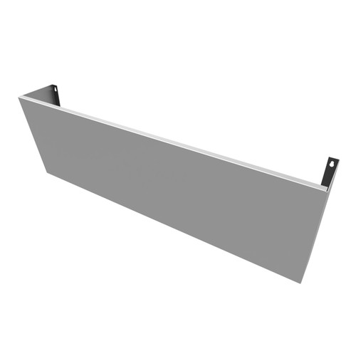 "Stainless Sink Shroud (58"") for wall-hung Trueform Concrete Sinks."