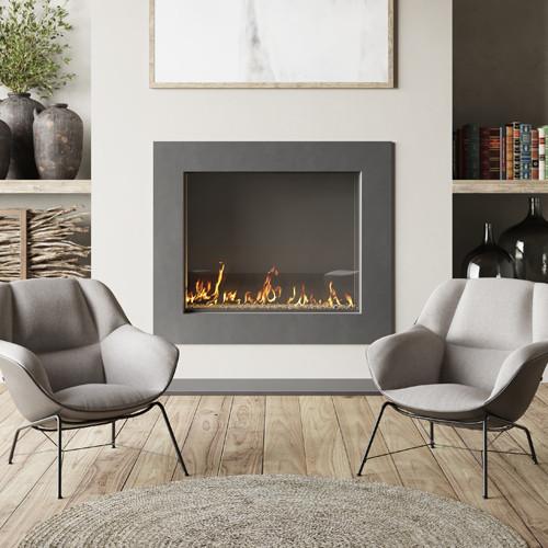 Trueform Frame Concrete Fireplace Surround.