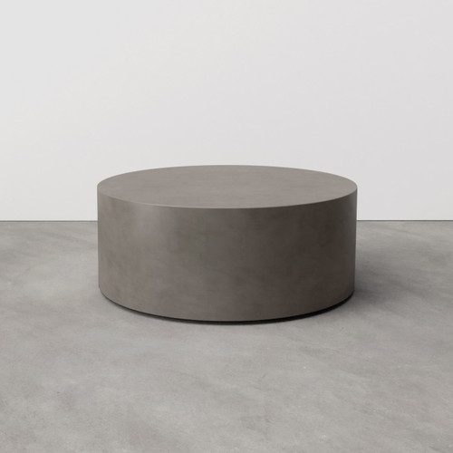 The Avory Concrete Coffee Table, featured here in Dusk