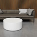 The Avory Concrete Coffee Table, featured here in White Linen