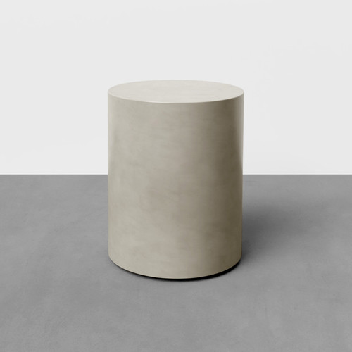 """The Avory Concrete Side Table, shown here in the color """"Concrete"""""""