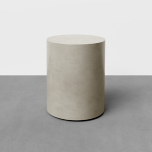 "The Avory Concrete Side Table, shown here in the color ""Concrete"""