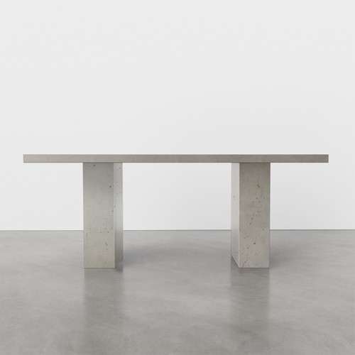 "Chelsea Concrete Dining Table in the color ""Concrete"""