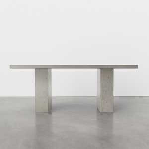 """Chelsea Concrete Dining Table in the color """"Concrete"""""""