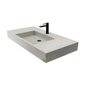 """Nolita 36"""" Rectangle Sink in the color Limestone."""