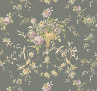 Ashford House Blooms Floral Urn Wallpaper #AK7465