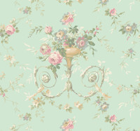 Ashford House Blooms Floral Urn Wallpaper #AK7466