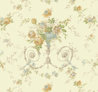Ashford House Blooms Floral Urn Wallpaper #AK7467