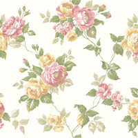 Ashford House Blooms Garden Rose Trail Wallpaper #AK7494
