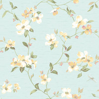 Ashford House Blooms Dogwood Wallpaper #GE9546