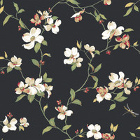 Ashford House Blooms Dogwood Wallpaper #GE9550