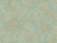 Blue Book Delia Damask Raised Print Wallpaper GL4656 by York