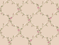 Callaway Cottage Elegant Rose Trellis Wallpaper CT0848 by York