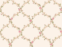 Callaway Cottage Elegant Rose Trellis Wallpaper CT0849 by York
