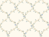 Callaway Cottage Elegant Rose Trellis Wallpaper CT0851 by York
