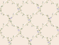 Callaway Cottage Elegant Rose Trellis Wallpaper CT0852 by York