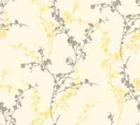 Botanical Fantasy Delicate Floral Branch Wallpaper WB5449 by York