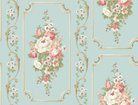 Casabella II Floral Panel Wallpaper