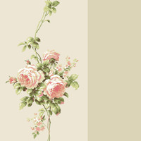 Casabella II Rose Stripe Wallpaper