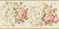 Casabella II Rose Scroll Border