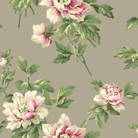 Casabella II Document Floral Wallpaper BA4612 by York