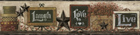 Country Keepsakes Country Chalkboard Shelf Border Wallpaper AC4404BD by York