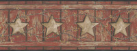 Country Keepsakes Country Cutout Star Wallpaper AC4415BD by York