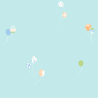 PEEK-A-BOO BALLOON BOUQUET WALLPAPER