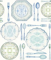 American Classics Dinnerware Wallpaper AM8732  by York
