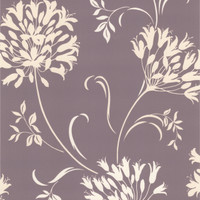 Nerida Grey Floral Silhouette