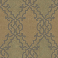 Bernaud Copper Persian Diamond Wallpaper