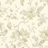 Berkin Rose Large Floral Vine Wallpaper