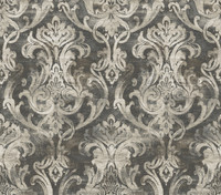 Elsa Black Ornate Damask Wallpaper