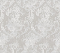 Elsa Blue Ornate Damask Wallpaper