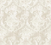 Elsa Silver Ornate Damask Wallpaper