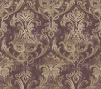Elsa Blackberry Ornate Damask Wallpaper