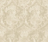 Elsa Wheat Ornate Damask Wallpaper