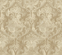 Elsa Bronze Ornate Damask Wallpaper