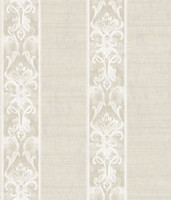 Elsa Off-White Alternating Damask Stripe Wallpaper