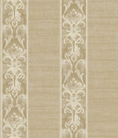 Elsa Gold Alternating Damask Stripe Wallpaper