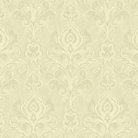 Beige Linear Damask